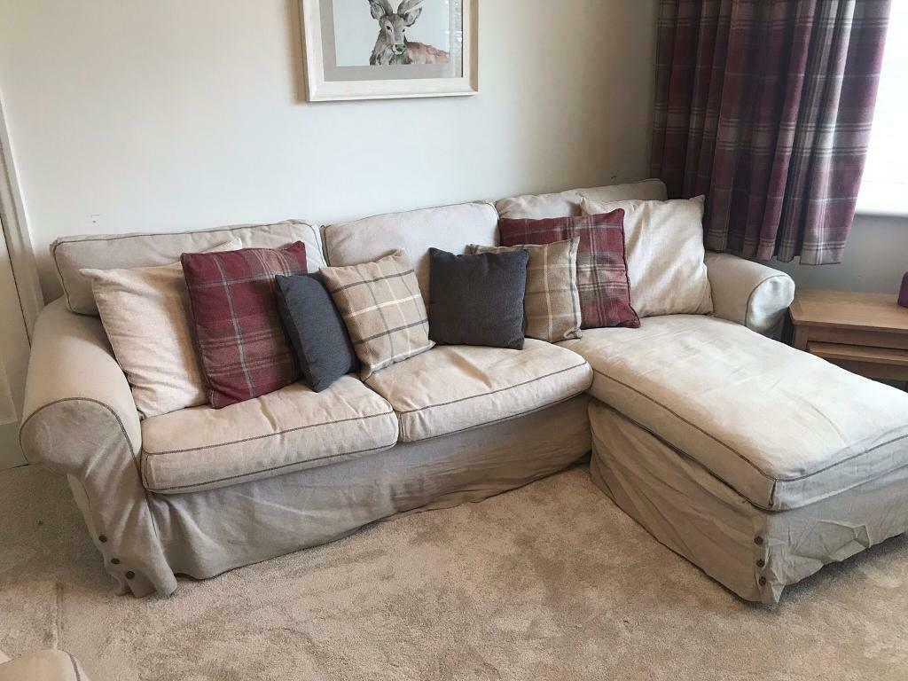 Ikea Ektorp Three Seat Sofa With Chaise Longue In Old Swan Merseyside Gumtree