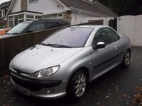 2003 PEUGEOT 206 CONVERTIBLE POWER ROOF 2 LADY OWNERS YEARS MOT POSS PART X