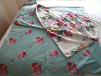 TWEEDMILL FLORAL SHABBY CHIC KING SIZE DUVET COVER & 2 PILLOWCASES