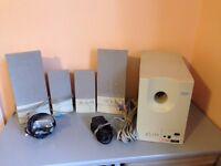 IBM PC powered surround sound speakers