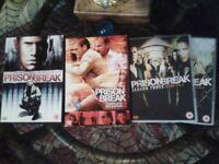 Prison Break DVD's. complete season 1 & 2, and 4 discs from season3
