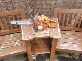 HUSQVARNA 240 X TORQUE EASY START CHAINSAW WITH ALMOST NEW BAR AND CHAIN