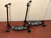 Oxelo 4 wheel scooter x 2 / skateboard scooter