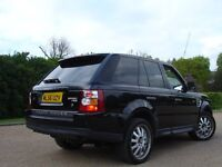 /// LAND ROVER RANGE ROVER SPORT 4.4 V8 /// 56 PLATE SAT NAVIGATION AUTOMATIC 4X4 JEEP ///