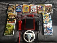 NINTENDO Wii Mini Console with 10 games 2 controllers + more