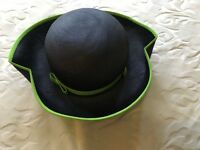 Navy Blue and Green Hat