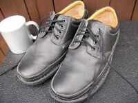 Mens Size 9 Black Leather, Lace Up, Wide Fit, Comfort Soles, Shoes by Trustyle