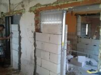 Tiling, plaster, painting hand man services