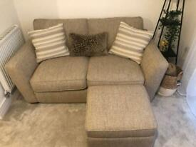 DFS Sofia House Beautiful 2 seater + Stool and Cushions ALL MOST BRAND NEW