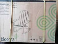 BRAND NEW SEALED FLORYDA RECLINER WOODEN CHAIR IDEAL FOR LIVING ROOM OR GARDEN BARGAIN RRP £100