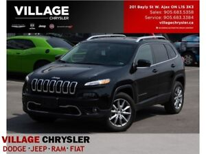 2017 Jeep Cherokee Limited 4x4 Nav Leather Sunroof Vent Seats Re