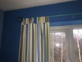 boys blue curtain rail and curtains if wanted