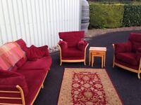 Bargain! Suite of furniture, mat & tables!!