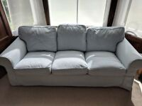 Ikea EKTORP / 3 seater sofa / Light Blue / Great Condition - QUICK SELL, MOVING OVERSEAS