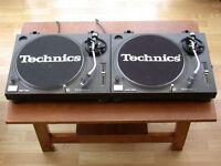 Pair of Technics SL1210s