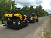 Commander 800R with its own trailer, lifted and full warranty