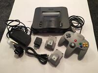 Nintendo 64 console + games. Original box