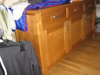 LARGE WOODEN SIDEBOARD 5ft 10inches, LOVELY PIECE OF FURNITURE, GREAT STORAGE!! REDUCED FOR QK SALE!