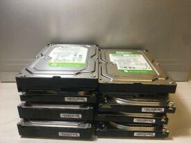 8 x 500GB Video Sata Hard Drive HDD 3.5 - Job Lot Bundle BULK - CCTV, PC 7200RPM