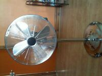 CHROME PEDESTAL FAN