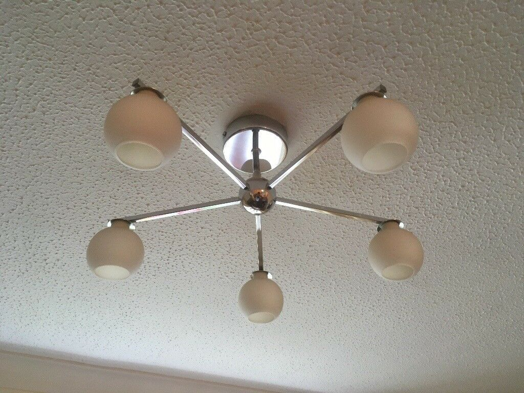 Ex john lewis ceiling light multi armed flush fit with 5 halogen ex john lewis ceiling light multi armed flush fit with 5 halogen bulbs aloadofball Image collections