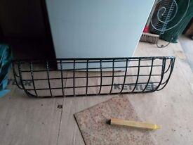 Wall mounted, trough style basket planter