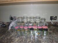 Assorted Preserve jars.