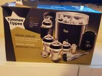 Black tommee tippee essentials set (everything new apart from Steriliser)