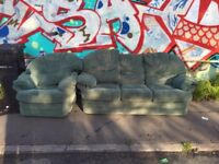 FREE SOFA AND ARM CHAIR FIRST COME FIRST SERVE