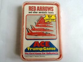 RED ARROWS & OTHER AEROBATIC TRUMP COLLECTOR'S CARDS £5