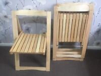 Set of 4 solid wooden chairs for sale