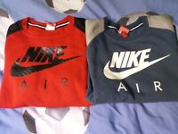 2 nike air jumpers age 12-13