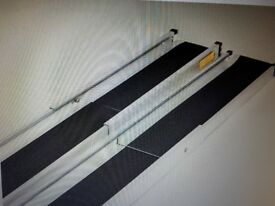 Telescopic channel ramps 7ft (213cm)with black grip surface