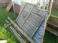 Old & Broken fence panels