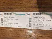 2 x Jason Derulo tickets 26th September 2018
