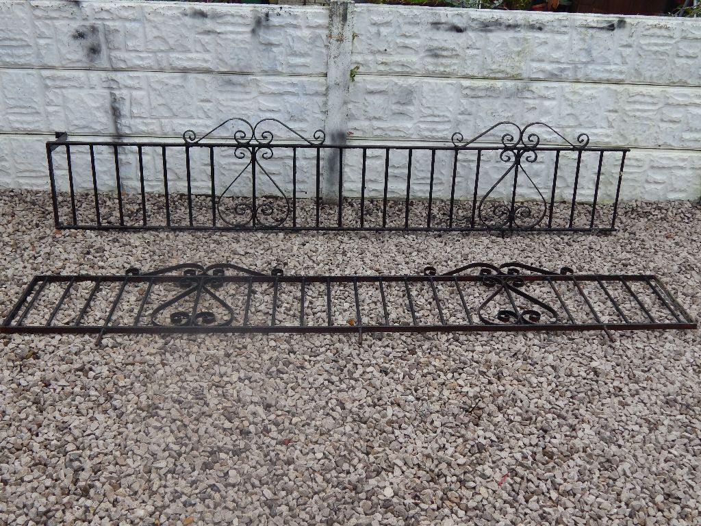 wrought iron railings / wall toppers / driveway / garden / decking