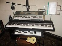 3 keyboards package plus many extras thrown in, featuring Roland & Casio electric products.