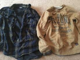 Boys Next and F&F top and shirt age 9