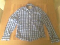 Hollister men's blue plaid shirt (large; slim fit) (never worn) JUST REDUCED