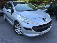 57 plate - peugoet 207s - 1.4 petrol - one year mot - 3 door - bargain
