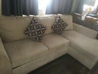 Cream corner sofa for sale £600