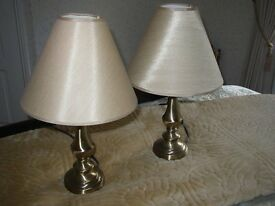 Pair of Table/Bedside Lamps with Shades