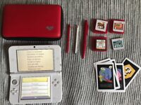 Nintendo 3DS XL White (with games & travel case)