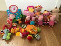 Bundle of baby toys- peppa, in the night garden and Lamaze