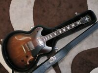 Washburn HB36 Vintage Hollow Body Guitar with Hard Case