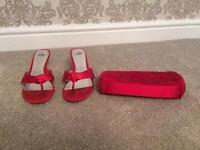 Red shoes and bag - wedding