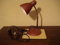 Purple and chrome desk or table lamp, in excellent condition, as new