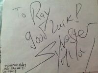 sylvester Mccoy 7th doctor who Signed