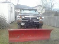 1980 Dodge Power Wagon Pickup Truck With plow
