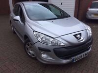 Peugeot 308 2009 1.6 Diesel,£30 Road Tex, silver 57k miles, part service history, Alloys, not 307